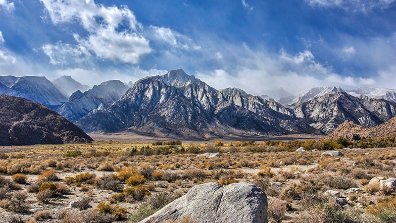 View of the Sierra Nevadas from the Alabama Hills
