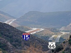 Route 66 in the Cajon Pass