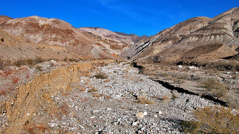 The huge alluvial fan of Jail Canyon