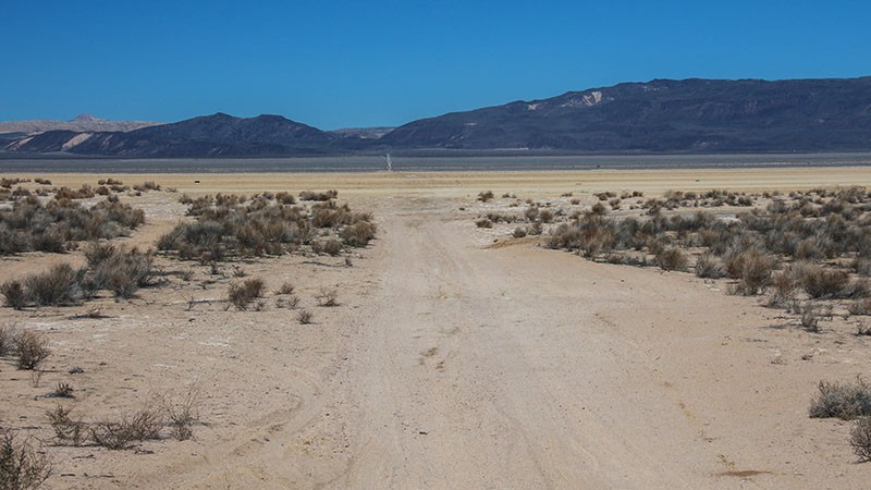 Crossing Harper Dry Lake
