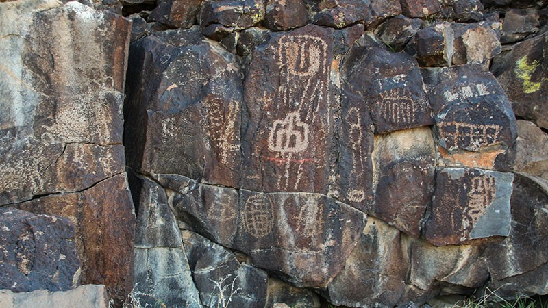 Petroglyphs at Inscription Canyon