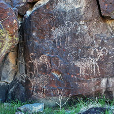 Black Mountains and Inscription Canyon Petroglyphs