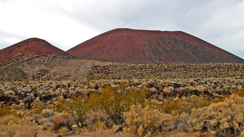 The cinder cone containing Aiken Cinder Mine
