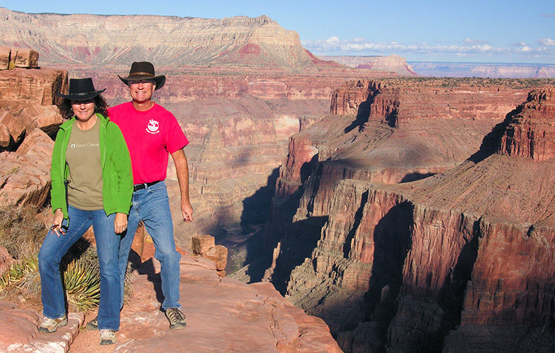 Ilene & Cliff Bandringa at Toroweap, Grand Canyon
