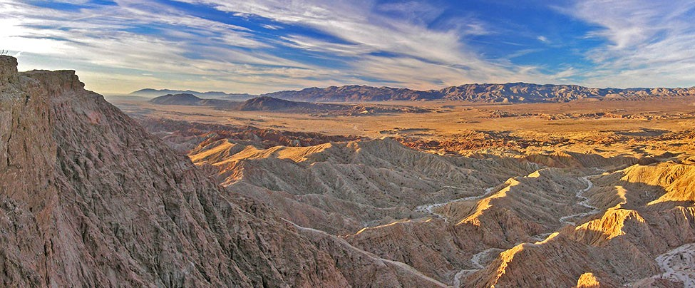 Fonts Point overlooking the Borrego Badlands